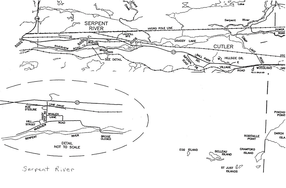 Map of Serpent River