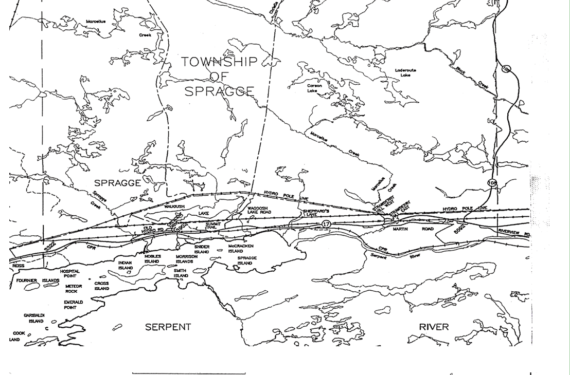 Map of Spragge
